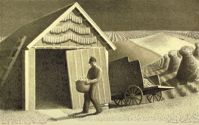 Grant Wood. Harvest and seed collection