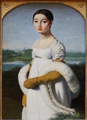 Jean Auguste Dominique Ingres. Mademoiselle Caroline Riviere