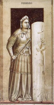 Giotto di Bondone. Courage. Seven virtues