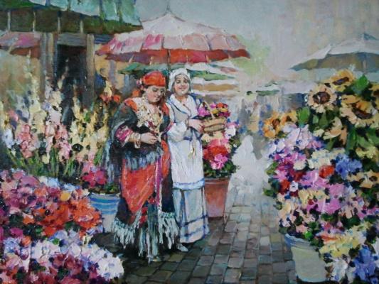 George Lapchinsky. Flower market