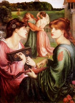 Dante Gabriel Rossetti. The Bower Meadow