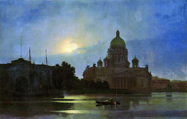 Arkhip Ivanovich Kuindzhi. Isaac's Cathedral in the moon light