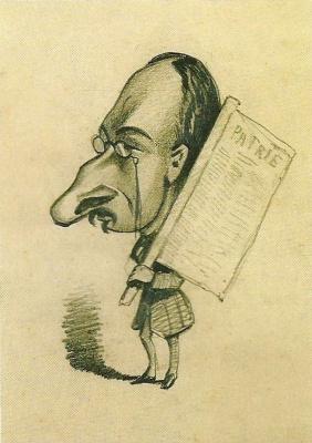 Клод Моне. Карикатура, Жюль де Примарий
