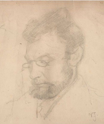 Вигго Юхансен. Портрет художника Карла Мадсена