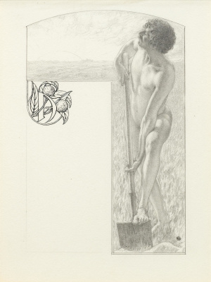 Carlos Schwabe. The letter 'A' feather