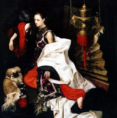 Ван Юкуи. Женщина с собакой
