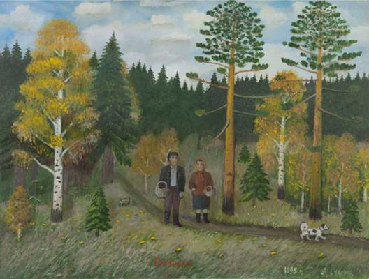 Alexander Vasilyevich Suvorov. Mushroom pickers