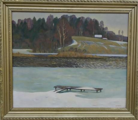 Victor Mikhailovich Rykov. Spring on the Msta River