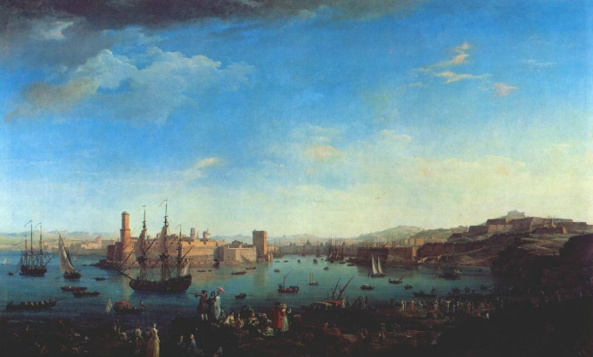 Claude Joseph Vernet. The entrance to the port of Marseille