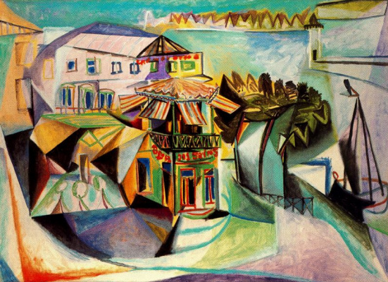 Пабло Пикассо. Кафе в Руайян