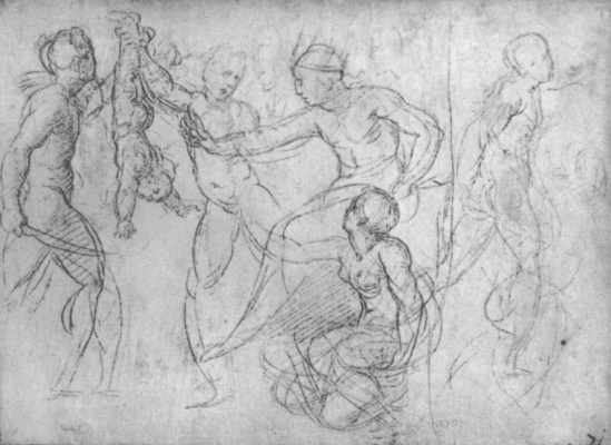 Raphael Sanzio. The court of Solomon, a study