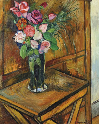 Suzanne Valadon. Vase of flowers on the table