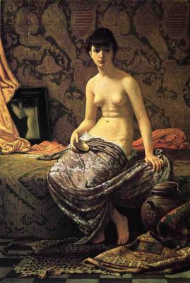 Элиу Веддер. Сидящая девушка