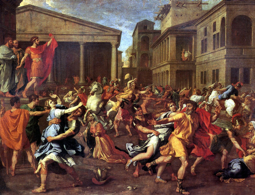 Nicola Poussin. The rape of the Sabine women