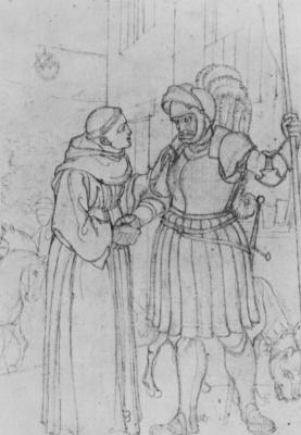 Франц Пфорр. Гёц фон Берлихинген и брат Мартин
