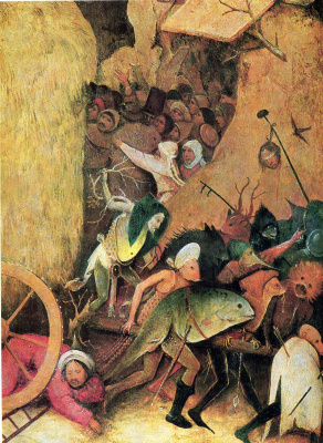Hieronymus Bosch. The hay-cart. The Central part of the triptych. Fragment