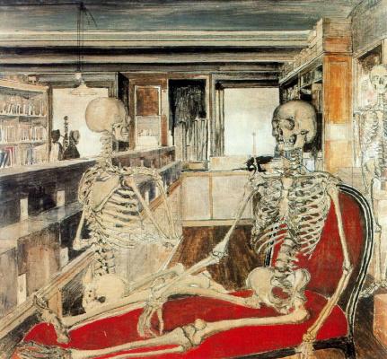 Paul Delvo. Skeleton