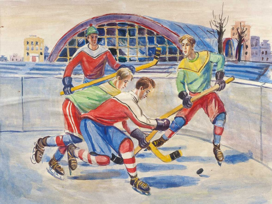 Alexander Alexandrovich Deineka. The hockey players. Sketch for a mosaic