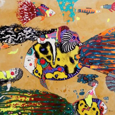 Natalia Pastushenko. Fish as a means of transportation