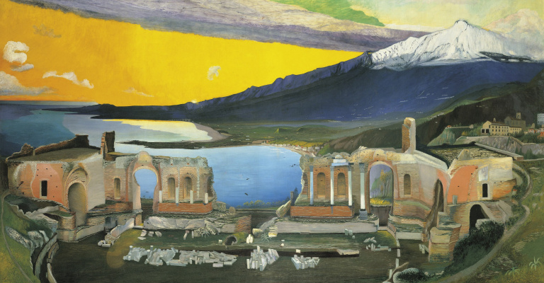 Tivadar Kostka Chontvari. Ruins of the Greek Theater in Taormina