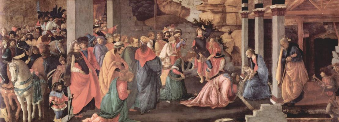Sandro Botticelli. The adoration of the Magi