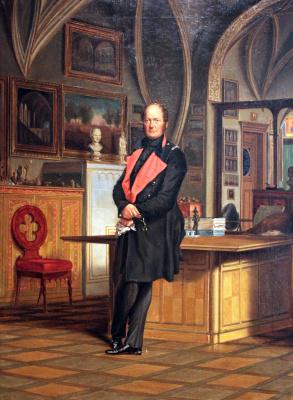 Франц Крюгер. Фридрих Вильгельм IV, король Пруссии в кабинете берлинского дворца