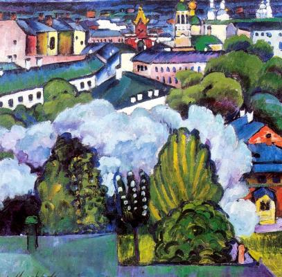 Ilya Ivanovich Mashkov. The urban landscape