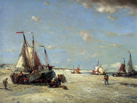 Франсуа Этьен Мусин. Пляж