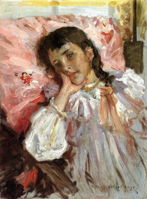 William Merritt Chase. Tired. Portrait of the artist's daughter