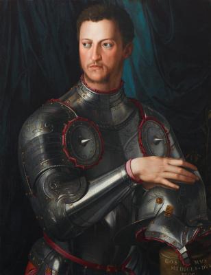 Agnolo Bronzino. Portrait of Cosimo I Medici in armor