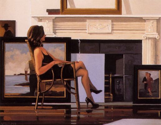 Jack Vettriano. The model and the drifter