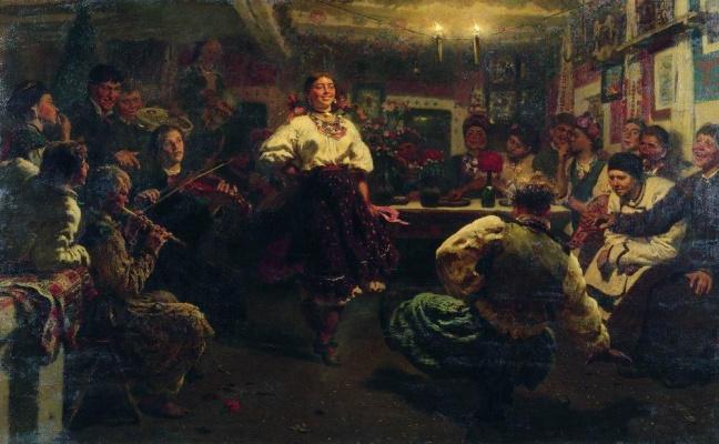 """Ilya Efimovich Repin. """"Vechornytsi"""""""