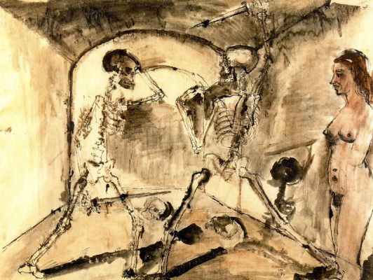 Paul Delvo. Skeletons and the girl
