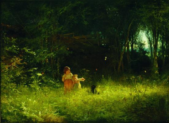 Ivan Nikolayevich Kramskoy. Children in the woods