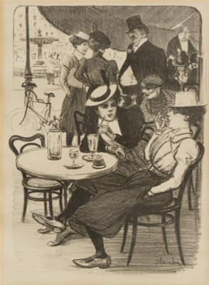 Theophile-Alexander Steinlen. A lunch meeting