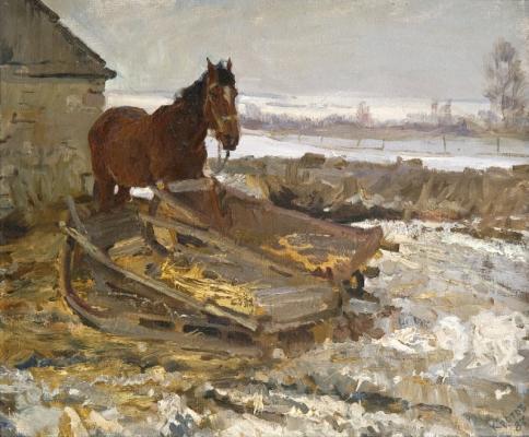 Yuri Krotov. Village horse.