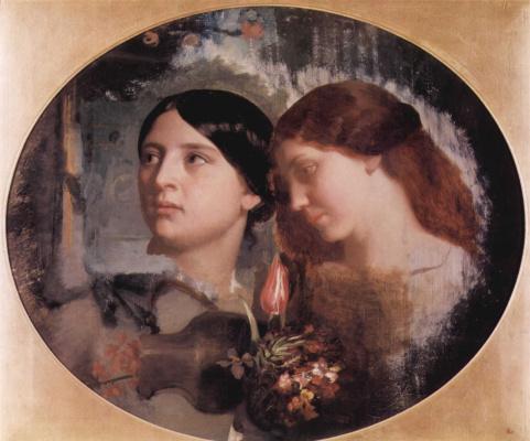 Две женщины с букетом