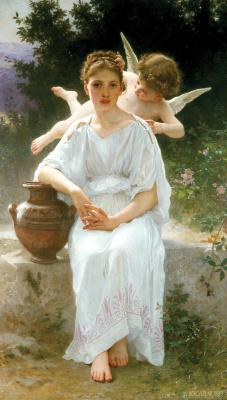 William-Adolphe Bouguereau. Whispers Cupid