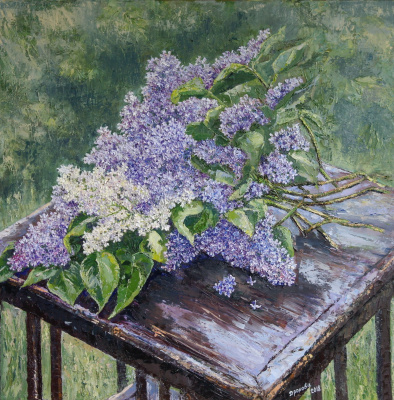 Irina Viktorovna Korotoyakskaya (Dronova). A bouquet of lilac