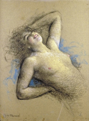 Lucien Levi-Durme. Laughing nude.