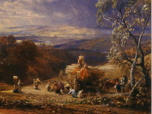 Samuel Palmer. Sunset