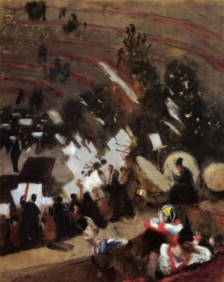 John Singer Sargent. Orchestra rehearsal in the circus
