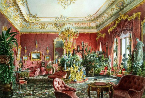 Luigi Premazzi. Large living room of the Mikhailovsky Palace