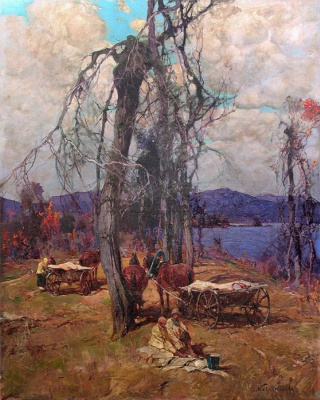 Stepan Fedorovich Kolesnikov (Odessa). Relaxing at the lake