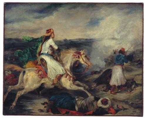 Эжен Делакруа. Сцена из греческой освободительной войны