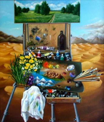 Vladimir Vasilyevich Abaimov. My palette