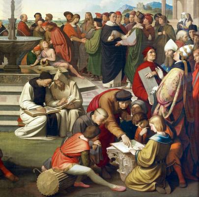 Johann Friedrich Overbeck. The triumph of religion in art. Fragment