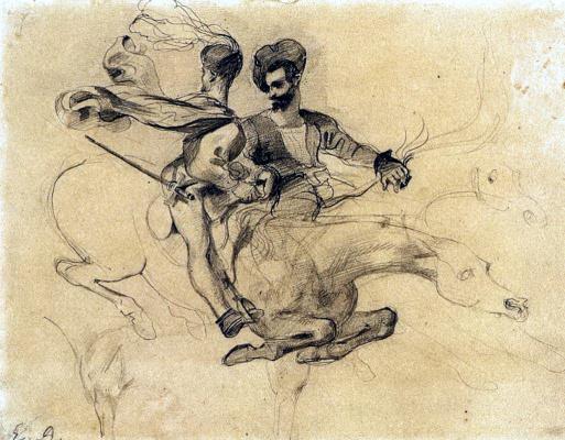 """Eugene Delacroix. Illustration to Goethe's """"Faust"""""""