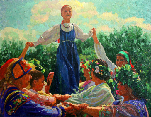 Michael Mine. The feast of the Trinity in Suzdal