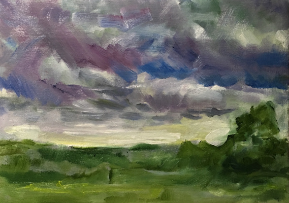 "Vsevolod Chistyakov. The Painting ""Gloomy Sky ""Buy In St. Petersburg Landscape For The Interior"